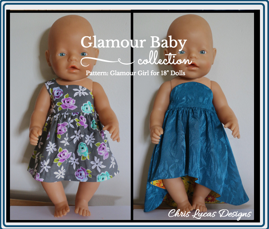 Glamour Girl sewing pattern for Baby Born Dolls