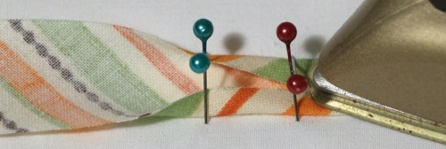 Press bias binding folds into place - How to make your own Bias Binding