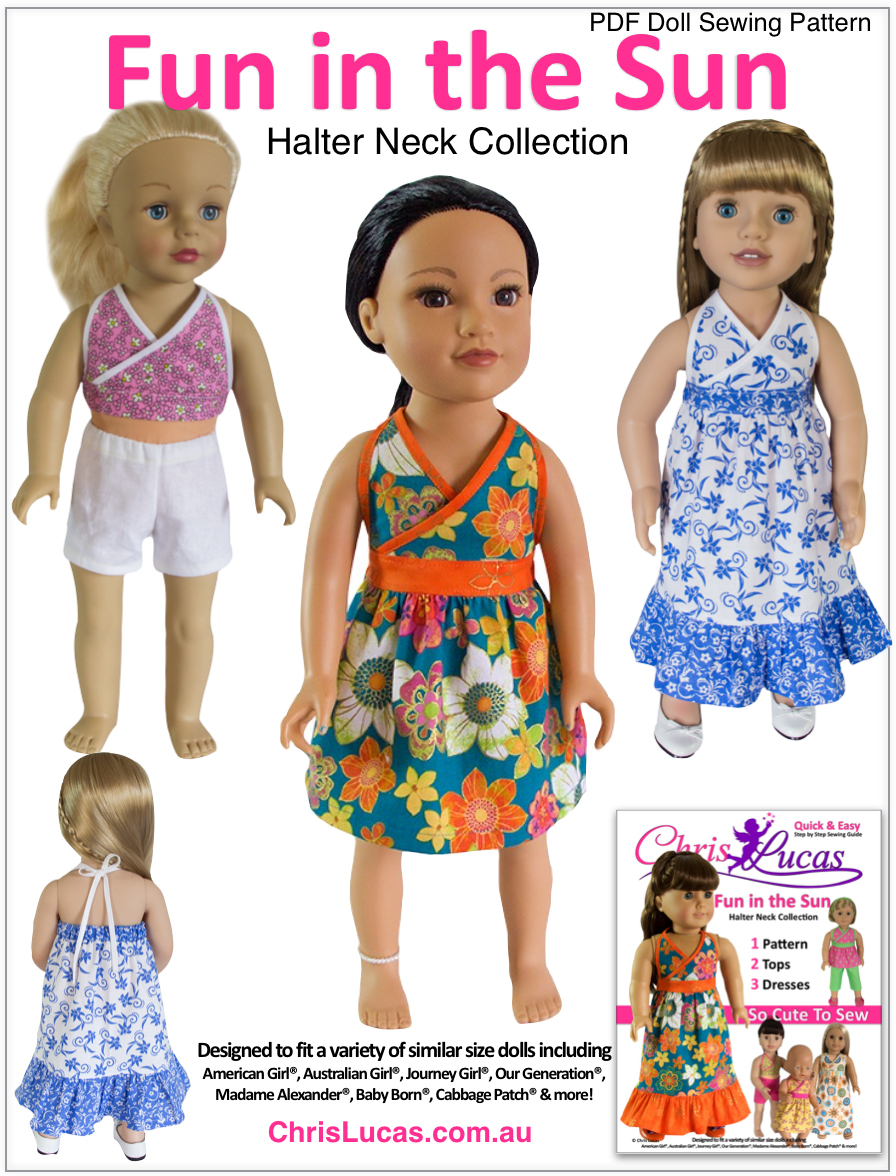 Fun in the Sun - Chris Lucas Designs PDF Doll Sewing Pattern