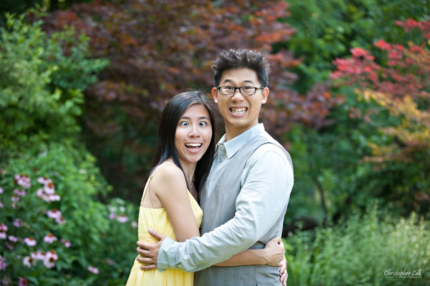 Christopher Luk 2012 - Engagement Session - Theresa and Ryan - Alexander Muir Memorial Gardens Park Toronto Wedding Lifestyle Photographer - Funny Faces