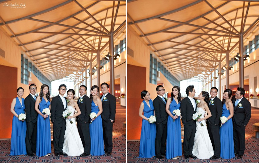 Christopher Luk 2012 - Theresa and Ryan's Wedding - Toronto Centre for Performing Arts Life-Spring Christian Fellowship Destiny Banquet Hall - Bride and Groom Creative Relaxed Portrait Session Wedding Bridal Party Groomsmen Bridesmaids Henkaa