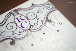 Christopher Luk - Wedding & Lifestyle Photographer - Deborah Lau-Yu of Palettera Custom Correspondences - Chris Kitty Letterpress Envelope Invitation Chandelier Swarovski Crystals Custom Monogram Letterhead Design Title