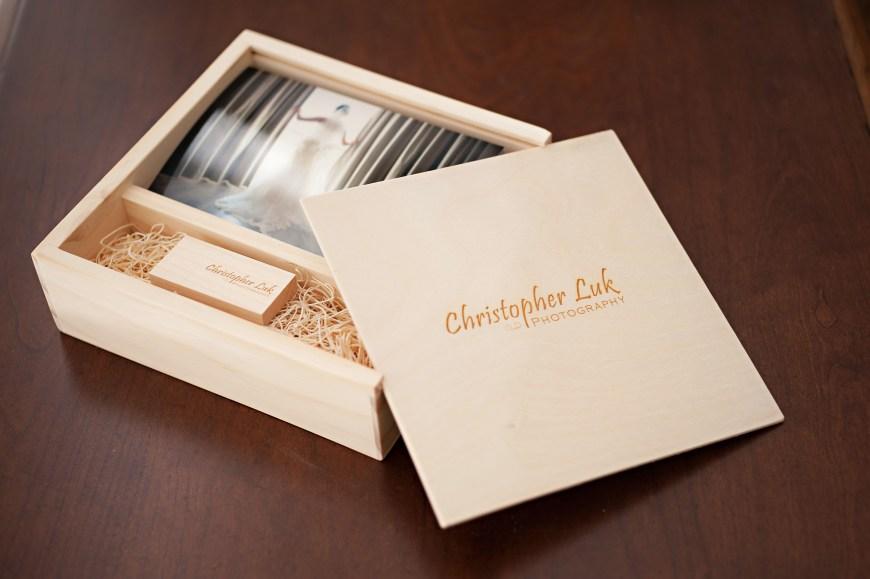 Christopher Luk 2014 - 4x6 Photo Print and Flash Drive Engraved Logo Maple Square Box Bundle Boutique Packaging Branding Kodak Endura Metallic Prints - Toronto Wedding and Event Photographer