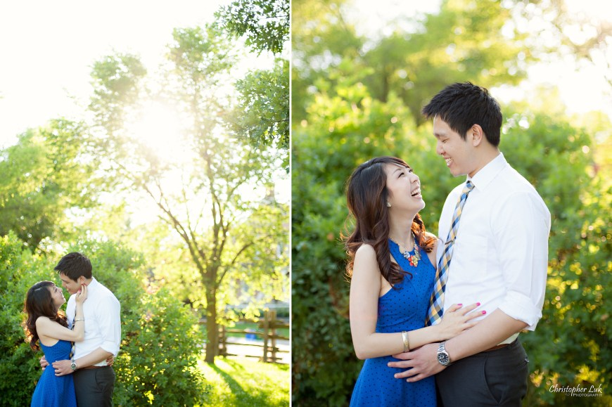 Christopher Luk 2014 - Heidi and Ming-Yun Engagement Session - Markham Richmond Hill Wedding Event Photographer - Candid Relaxed Natural Photojournalistic Sunset Golden Hour Hug Smile Laugh