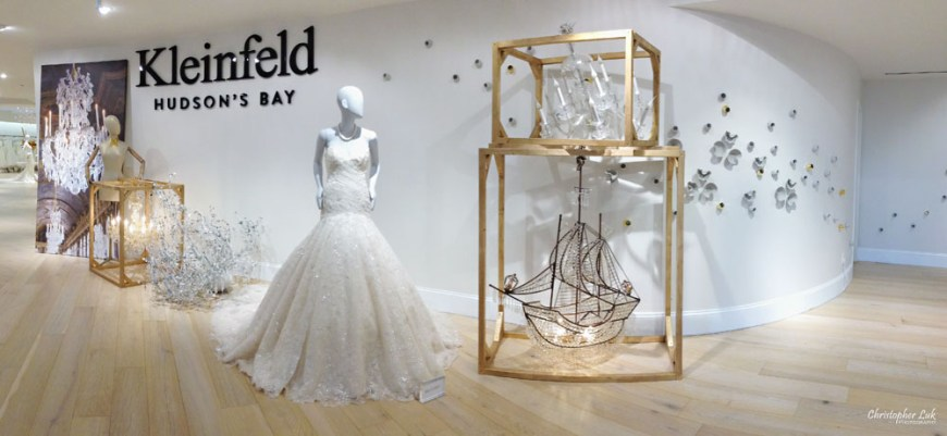 Kleinfeld Bridal Boutique Canada Hudsons Bay Christopher Luk Photography 2014 White Wedding Dress Gown Ines Di