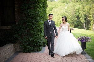 Christopher Luk 2015 - Karen and Scott's Wedding - Miller Lash House University Toronto Scarborough UTSC Outdoor Summer Ceremony Reception - Bride Groom Photojournalistic Candid Natural Relaxed Walking Path