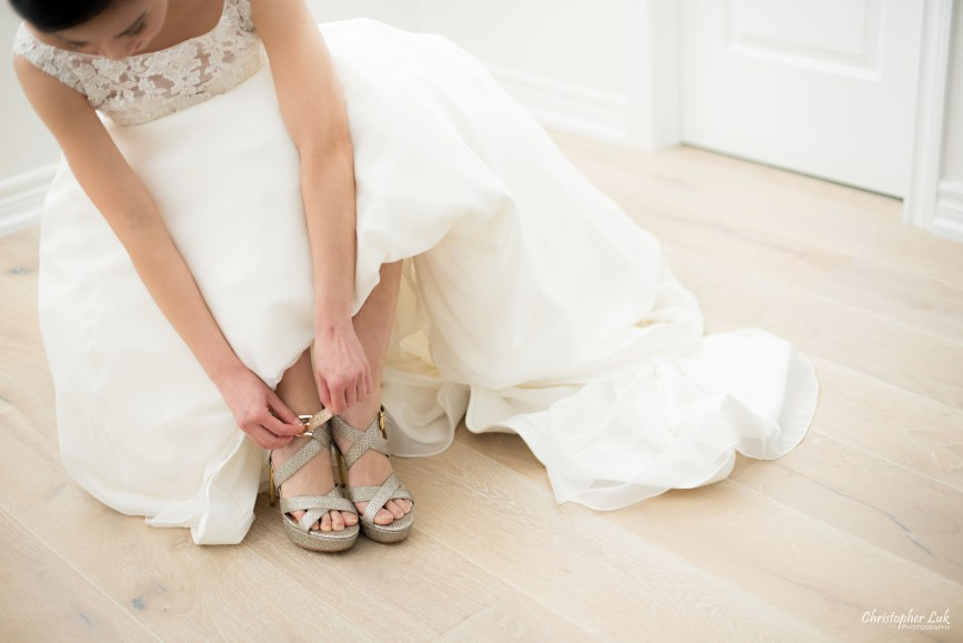 Fall Autumn Wedding Bride Getting Ready Gold Sequin High Heel Peep Toe Pumps Shoes Mori Lee Best For Bride Bridal Boutique
