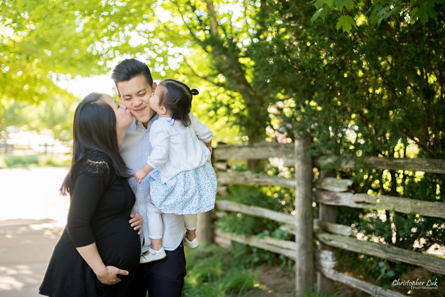 Christopher Luk (Toronto Wedding, Lifestyle & Event Photographer) - Markham Family Maternity Children Session Mommy Mom Daddy Dad Parents Toddler Infant Baby Girl Kiss