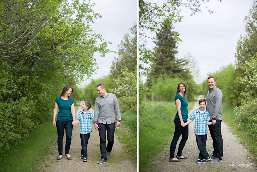 Photojournalistic Candid Natural Mom Dad Son Mother Father Walk Field Path Cute Fun