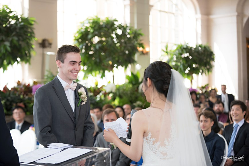 Christopher Luk Toronto Wedding Photographer - Casa Loma Conservatory Ceremony Creative Photo Session ByPeterAndPauls Paramount Event Venue Space Natural Candid Photojournalistic Castle Bride Groom Vows Smile Reaction