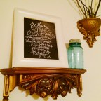 """A framed mirror of """"Be Thou My Vision"""" in our apartment, the anthem and compass of my creative vision odyssey."""