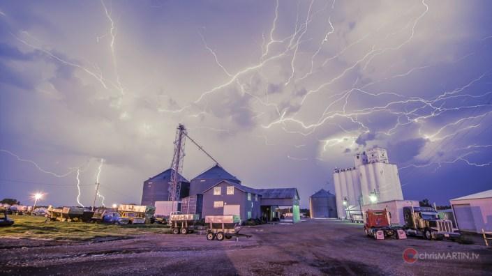 Lightning over Apache CoOp, Apache, OK