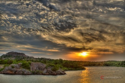 Sunset over Refuge, Wichita Mountain Wildlife Refuge, Lawton, OK