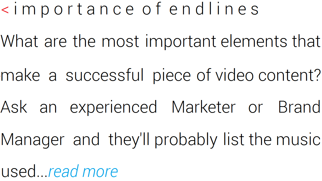 importance of endlines