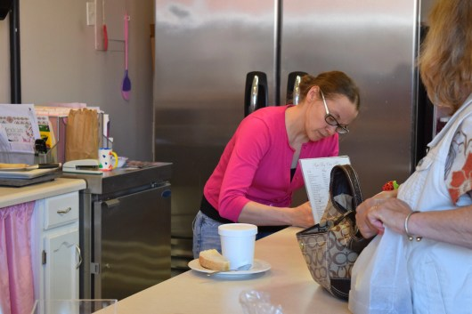 Thea Farrington, owner of The Perfect Day Cakes & Bakery, hard at work during my Book Launch Celebration