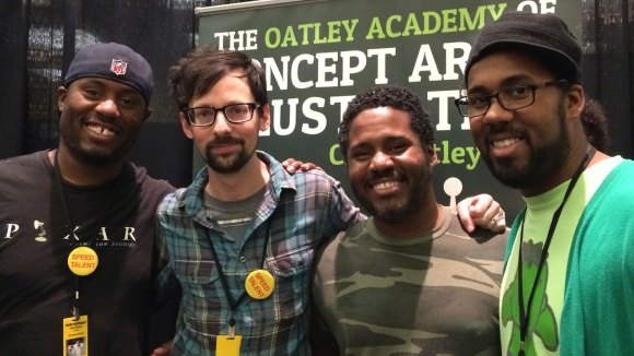 Chris Oatley with the amazing Copeland Brothers at CTNX 2013 (Left to right: Justin, Brenton and Chris.)