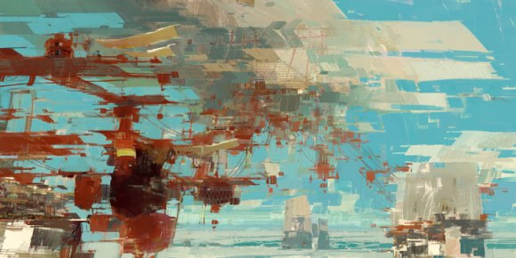 The Kite City - Concept Painting from Guild Wars 2