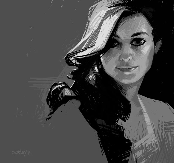 """A portrait study in a digital """"scribble"""" technique with which I've been experimenting. [ click here for the high res version ]"""