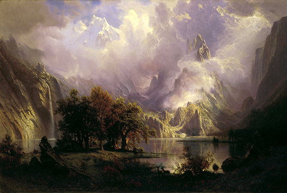 'A Rocky Mountain View' by Albert Bierstadt