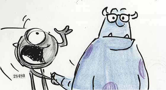 A Bob Peterson Storyboard from 'Monsters, Inc.'