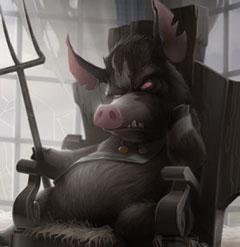 Detail from Chris Oatley's 'Animal Farm' digital painting.