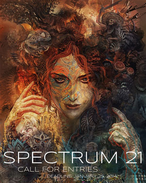 The deadline for 'Spectrum 21' is January 25th. Acceptance into the book is, for many artists, a worthwhile prize...