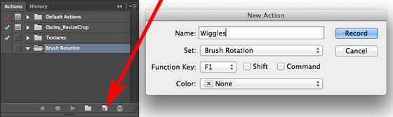 Create a new Action that automagically selects the first angle for each rotation brush. Assign the action to a Function Key.