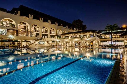 Interior Photography Tanglin Club Singapore Exterior Night Pool 1080