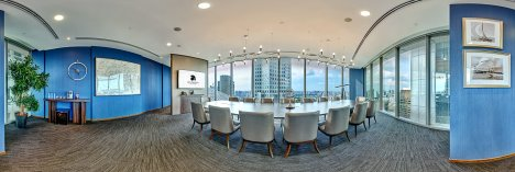 360 degree virtual tour photo of sky premium boardroom in Singapore from the rear