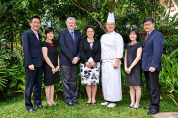 corporate portrait of senior management at tanglin club in singapore