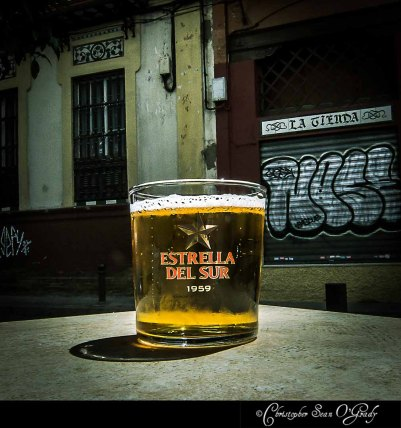 beer, consumed somewhere in the south of spain...