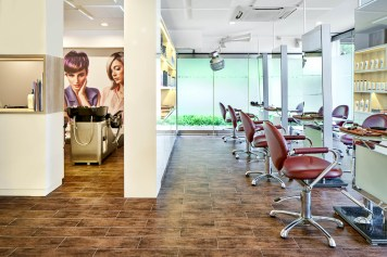 Interior Photography of a hair salon at tanglin club country club in singapore