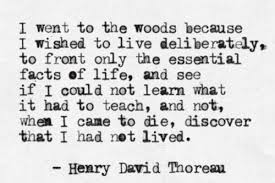 I went to the woods to live