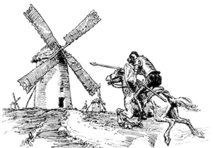 Image result for don quichotte windmills
