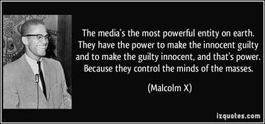 Malcolm X the media