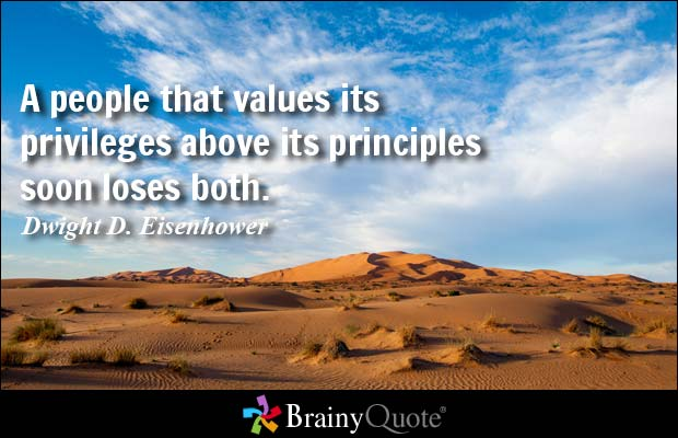 Principles over privilege