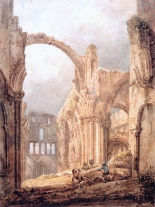 Ruins of Lindisfarne_Priory_1797