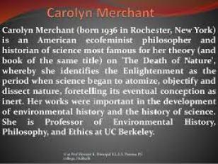 Carolyn Merchant Thesis