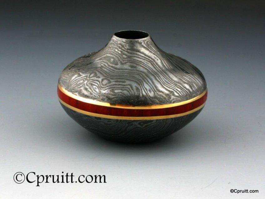 Mokume Seed Pot