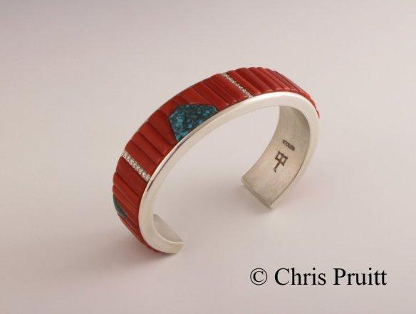 38-Coral Lone Bracelet-001