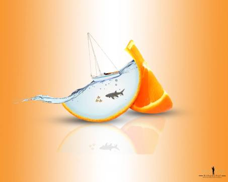 Orange-water