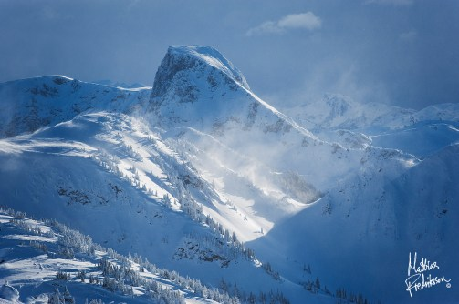 Looking out to Ghost peak from Revelstoke Mountain Resort