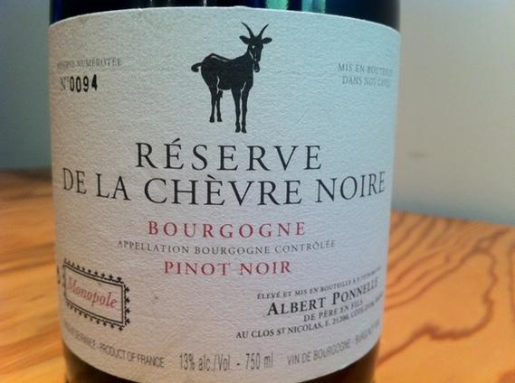 Albert Ponnelle Reserve de la Chevre Noire Bourgogne 2008