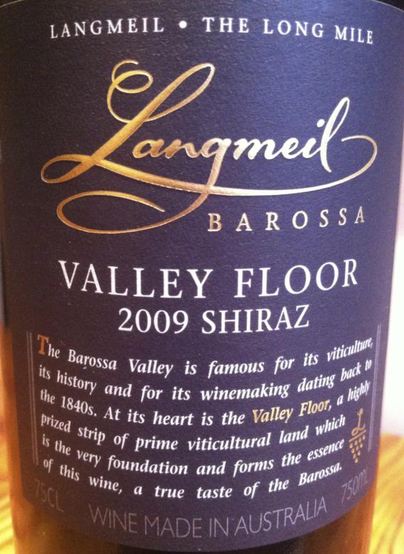 Langmeil Barossa Valley Floor 2009 Shiraz