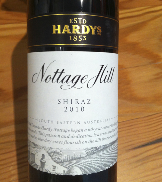 Hardy's Nottage Hill Shiraz 2010