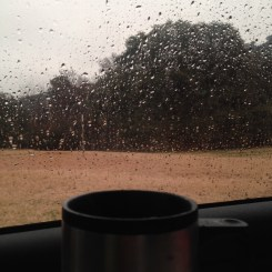 Day 3: Morning coffee on a muggy rainy day.