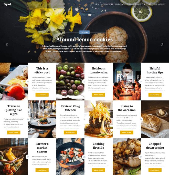 Dyad - Plantilla Gratis WordPress para Portafolio