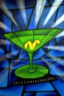 Martini Blue painting by Chris Shaw, 1998