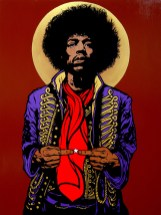 Jimi Hendrix painting by Chris Shaw, 2010