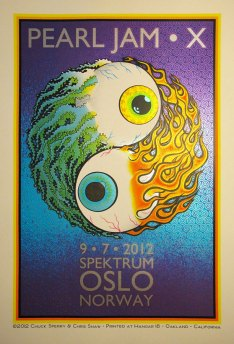 Pearl Jam Oslo 2012 poster by Chris Shaw & Chuck Sperry